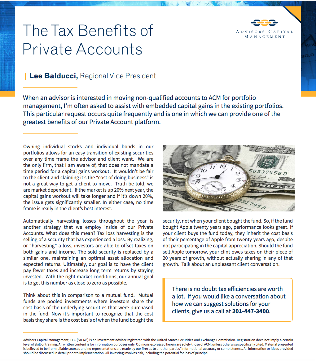 The Tax Benefits of Private Accounts